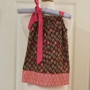 Toddler Halter Dress w/Hot Pink Ribbon Bow #cutene